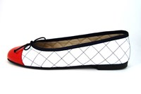 Classy ballerinas - rood wit blauw in grote sizes