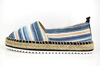 Stravers espadrilles - blauw beige in grote sizes