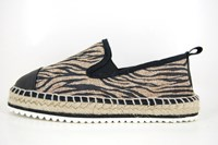 Stravers espadrilles - zwart beige in grote sizes
