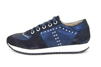Fashion Sneakers dames - blauw in grote sizes