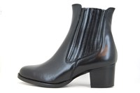 Chelsea boots - zwart leer in grote sizes