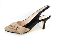 Marilyn Monroe Slingback Pumps - beige zwart in kleine sizes