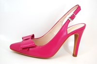 Fuchsia roze slingback pumps in kleine sizes