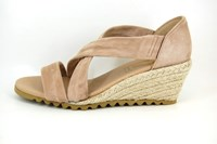 Espadrilles met Sleehak - beige in grote sizes