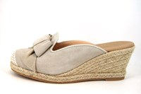 Sleehak espadrille muiltjes in grote sizes