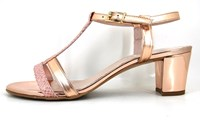 Edgy Couture sandalen rose gold in kleine maten