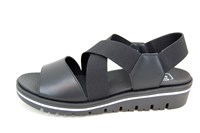 Hippe Comfortabele Sandalen - zwart in grote sizes