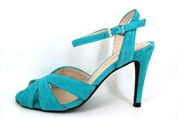 Sexy sandalet hoge hak - turquoise in kleine sizes