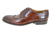 Derby brogue schoenen - bruin in kleine sizes