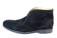 Desert boots heren - zwart suede in grote sizes