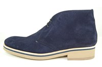 Desert boots heren - blauw in grote sizes