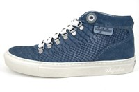 Blauwe slang heren sneakers in kleine sizes
