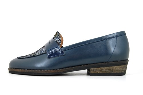 Blauwe Penny Loafers