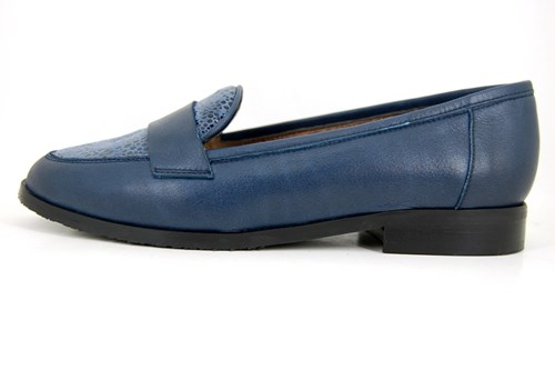 Blauwe dames Penny Loafers