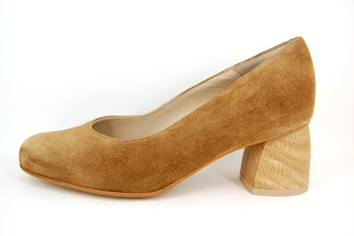 Comfortabele Pumps - naturel kleur
