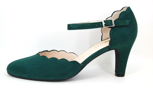Luxe wreefband pumps - groen