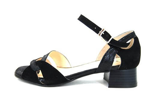 Uitgelezene Luxe sandalen lage hak - zwart   Grote Maten   Open schoenen PY-32